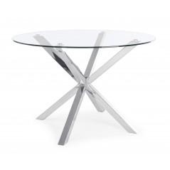 Bizzotto | Tavolo MAY TO Gamba Acciaio D114 | Tavoli in Vetro e Gres