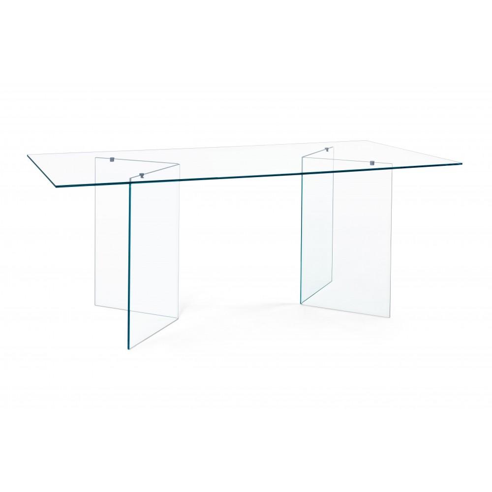 Bizzotto | Tavolo IRIDE Rettangolare 180X90 | Tavoli in Vetro e Gres