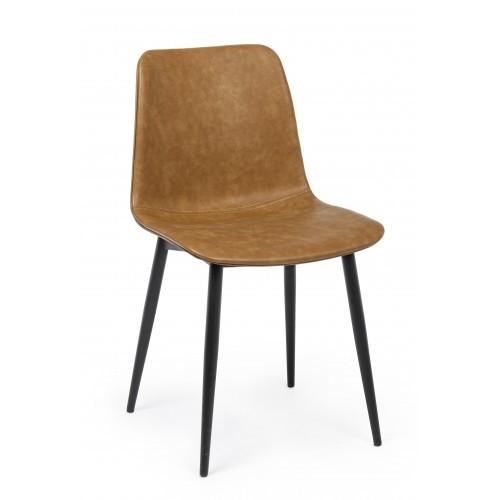 Bizzotto | Sedia KYRA PU Cuoio Vintage | Sedie Moderne