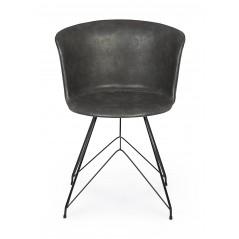 Bizzotto | Sedia LOFT PU Antracite Vintage | Sedie Moderne