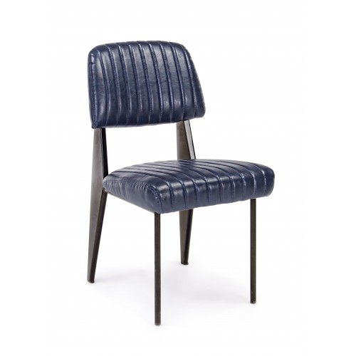 Bizzotto | Sedia NELLY Blu Vintage | Sedie Moderne