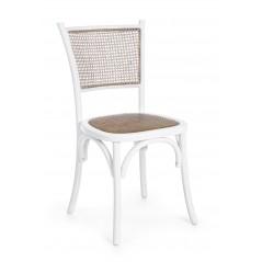 Bizzotto | Sedia CARREL Bianco | Sedie in Legno
