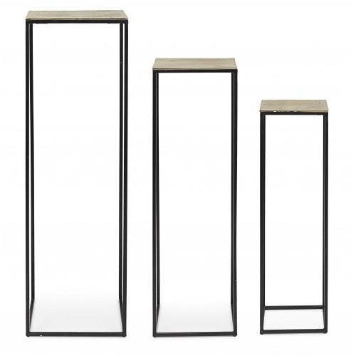 Bizzotto Homemotion | Set 3 Porta Piante AMIRA | Mobili Contenitore