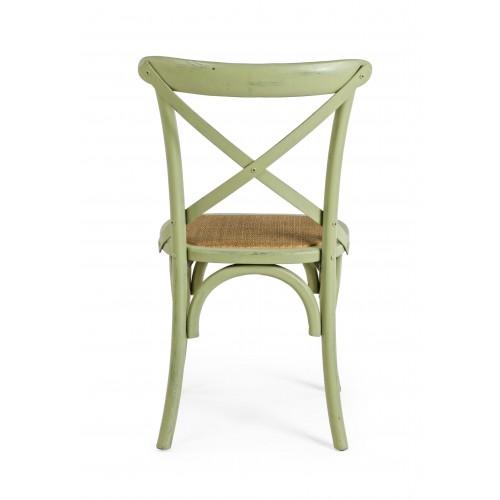 Bizzotto | Sedia CROSS Verde | Sedie in Legno