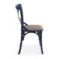 Bizzotto | Sedia CROSS Blu | Sedie in Legno