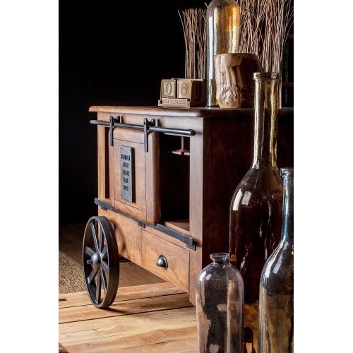 Bizzotto Homemotion | Mobile Porta Bottiglie JUPITER 2 Ante - 1 Cassetto | Mobili Contenitore