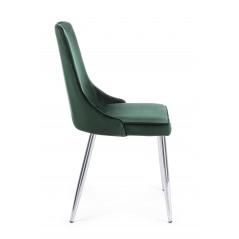 Bizzotto | Sedia CORINNA Velluto Verde Scuro | Sedie Moderne
