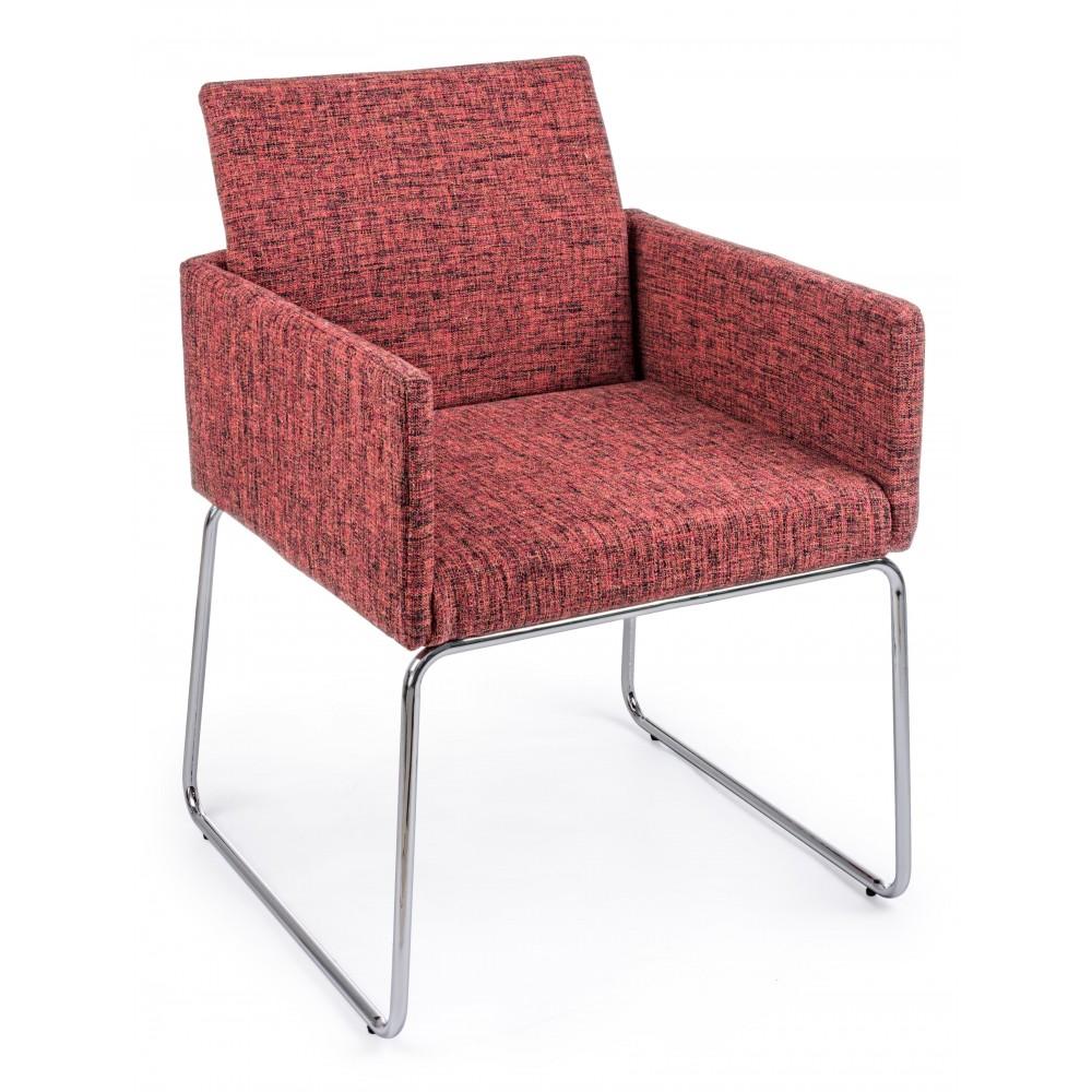 Bizzotto | Sedia Con Braccioli SIXTY TEXT Rosso | Sedie Moderne
