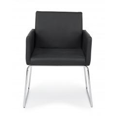 Bizzotto | Sedia con Braccioli SIXTY PU Nero | Sedie Moderne