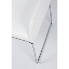 Bizzotto   Sedia con Braccioli SIXTY PU Bianco   Sedie Moderne