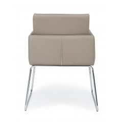 Bizzotto | Sedia con Braccioli SIXTY PU Tortora | Sedie Moderne