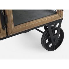 Bizzotto | Mobile con Ruote 6 Ante - 2 Cassetti LIVERPOOL | Mobili Contenitore