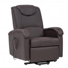 Cosma | Poltrona Relax Elettrica Reclinabile Massaggiante Marrone | Divani