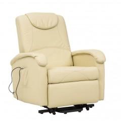 Cosma | Poltrona Relax Elettrica Reclinabile Massaggiante Beige | Poltrone