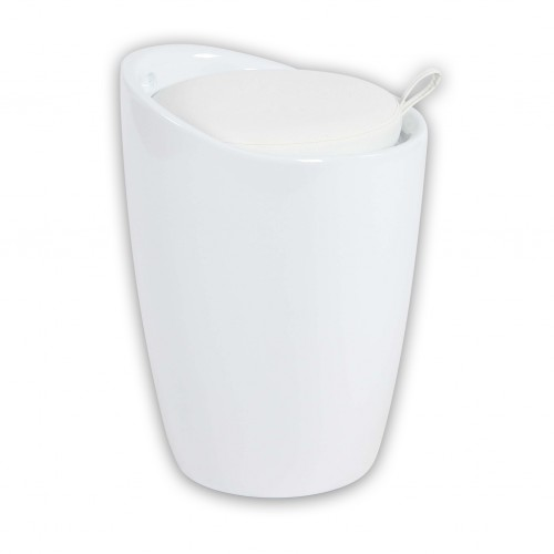 Cosma | Sgabello Pouf CLIFF Bianco | Arredo
