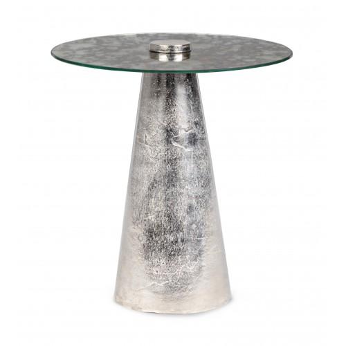 Bizzotto | Tavolino Con Vetro DINPAL NICKEL | Arredo