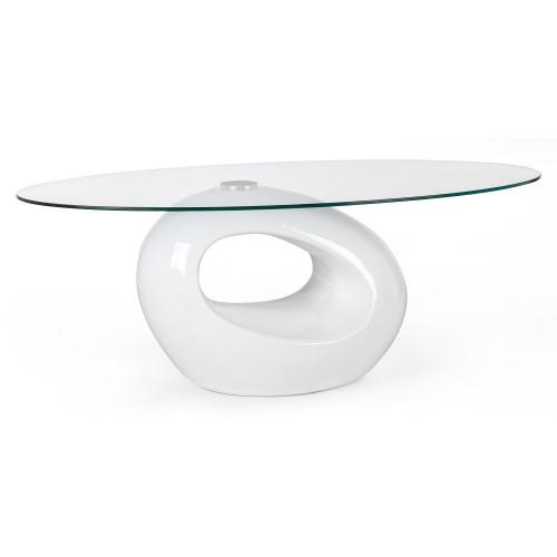 Bizzotto | Tavolino DOMINIQUE Vetro Bianco | Tavoli