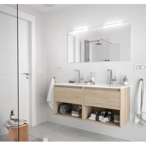 FISSORE.com | NOJA - COMPOSIZIONE BAGNO SOSPESA 2CASSETTI+2VANI A GIORNO L 1200 | Composizioni mobili bagno sospese