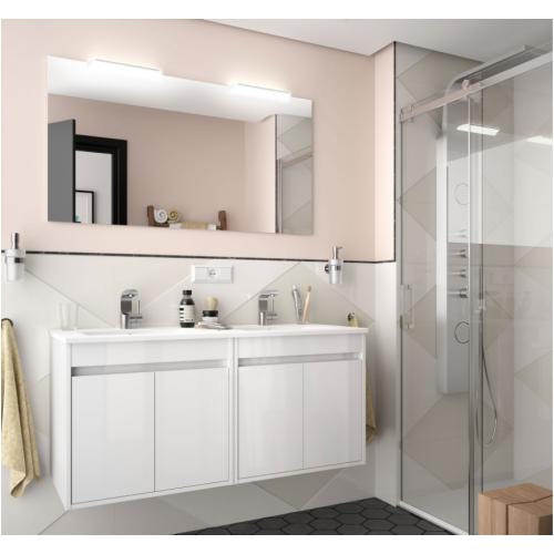 FISSORE.com | NOJA - COMPOSIZIONE BAGNO SOSPESA 4 ANTE DOPPIO LAVABO L 1210 | Composizioni mobili bagno sospese