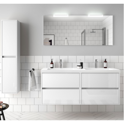 FISSORE.com | NOJA - COMPOSIZIONE BAGNO SOSPESA CON DOPPIO LAVABO L 1405 | Composizioni mobili bagno sospese