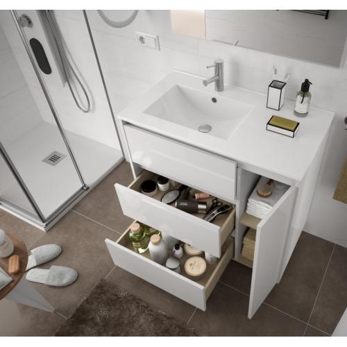FISSORE.com | ARENYS COMPOSIZIONE A TERRA 3 CASSETTI + 1 ANTA | Composizioni mobili bagno a terra