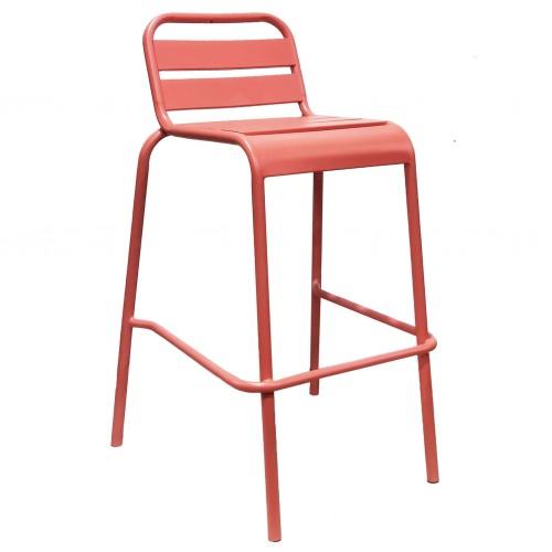 Cosma | SGABELLO ALTO VEGA RED | Poltrona e Sedie da Esterno