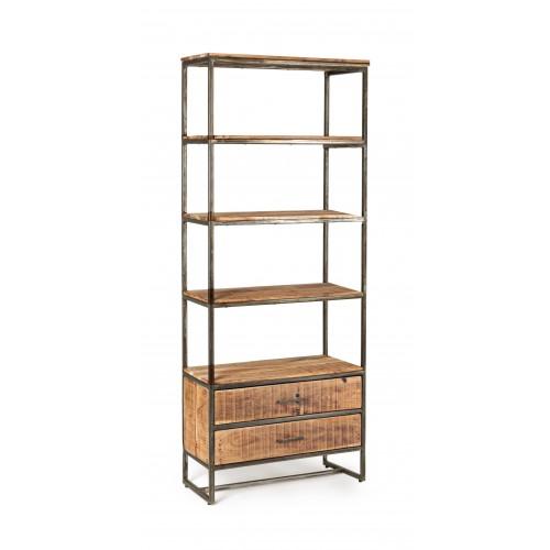 Bizzotto Homemotion | Libreria 4 Piani - 2 Cassetti ELMER | Librerie