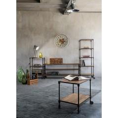 Bizzotto | Libreria 3 Piani Carrelli-Ruote LENDON | Librerie