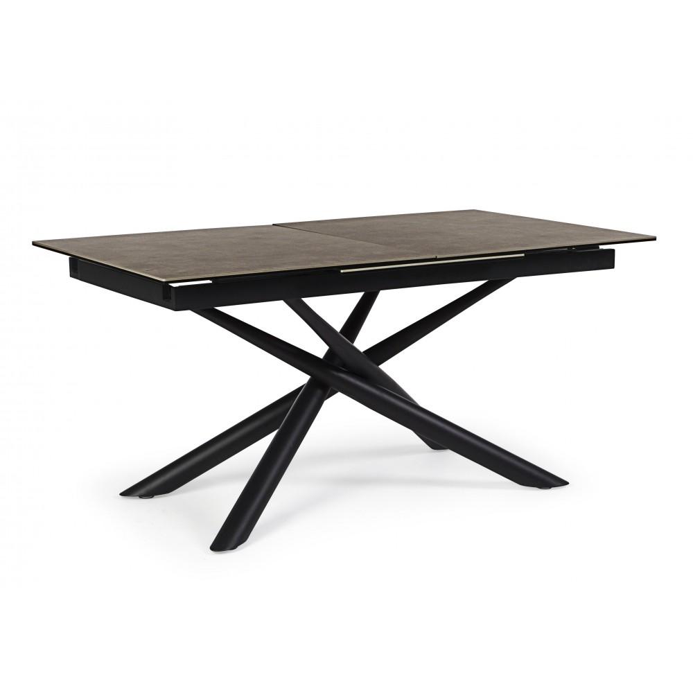 Bizzotto | Tavolo ALL. SEYFERT 160-220X90 | Tavoli in Vetro e Gres