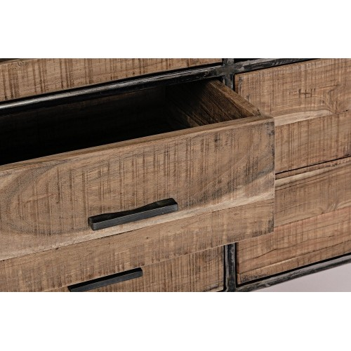 Bizzotto Homemotion | Mobile con Vetrina 4 Ante - 4 Cassetti ELMER | Vetrine