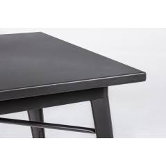 Yes | Tavolo MINNESOTA Nero 80X80 | Tavoli Moderni