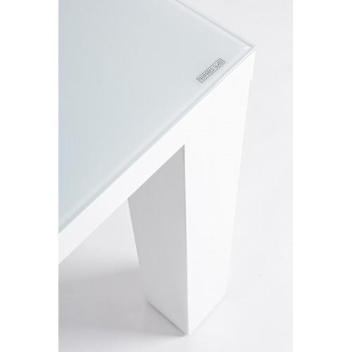 Yes | Tavolo STEPHEN Bianco 160X90 | Tavoli in Vetro e Gres