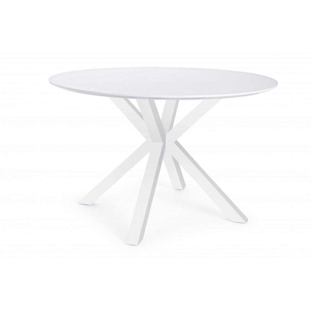 Bizzotto | Tavolo STAR Bianco D120 | Tavoli di Legno