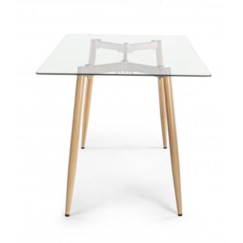 Yes | Tavolo OAKLAND FRASSINO 140X80 | Tavoli in Vetro e Gres